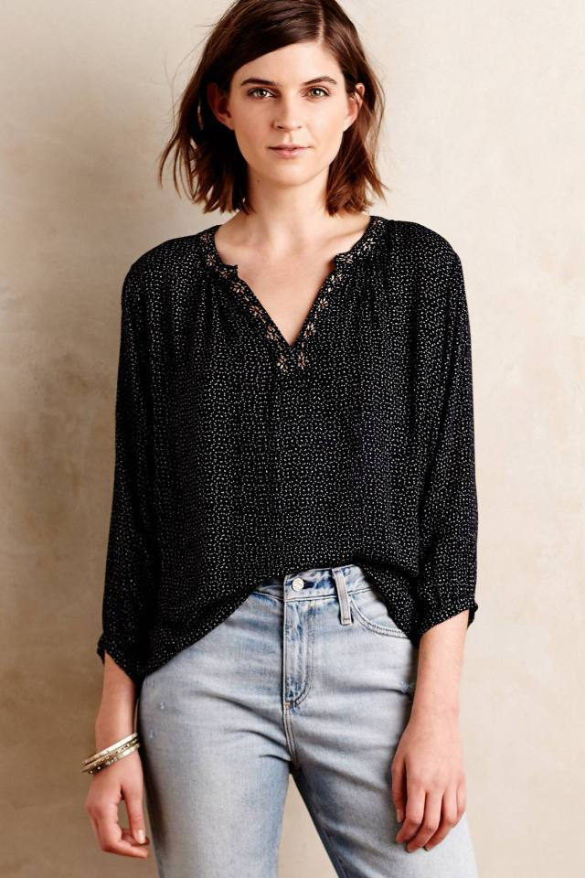 Valya Peasant Top by Velvet by Graham and Spencer