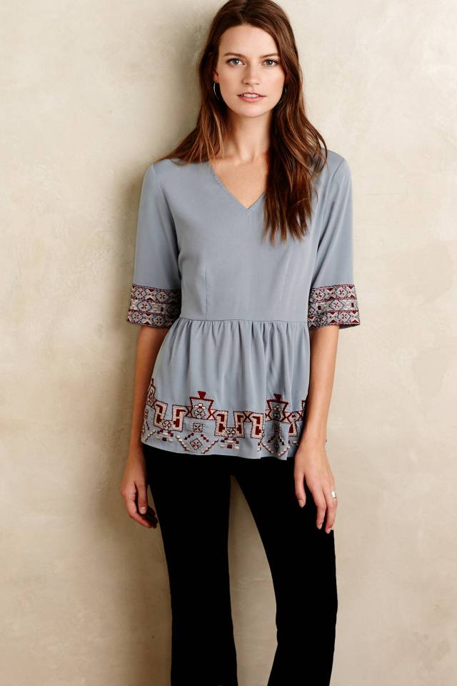 Skirted Calipha Blouse by KAS New York