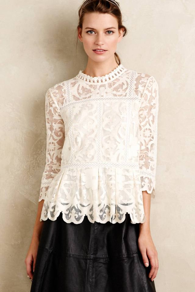 Nautical Lace Top by HD in Paris