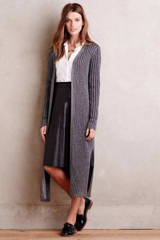 Shimmered Cables Cardigan by Velvet by Graham and Spencer