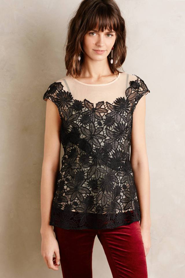 Garden Guise Lace Top by Deletta