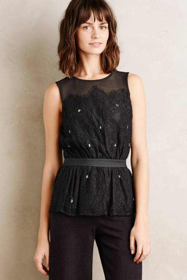 Stargazer Peplum Top by Meadow Rue