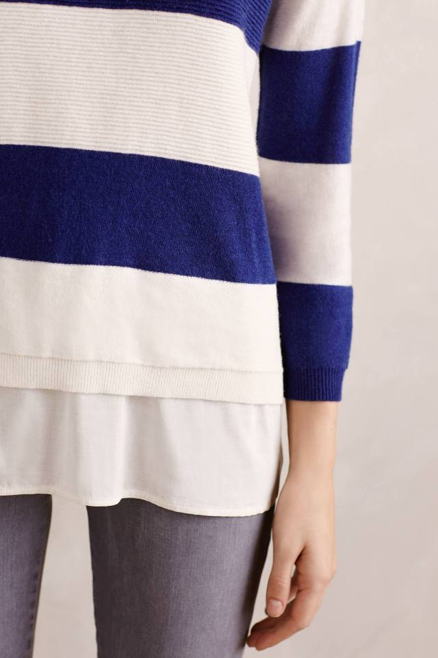 Flounced Rugby Pullover by Field Flower by Wendi Reed