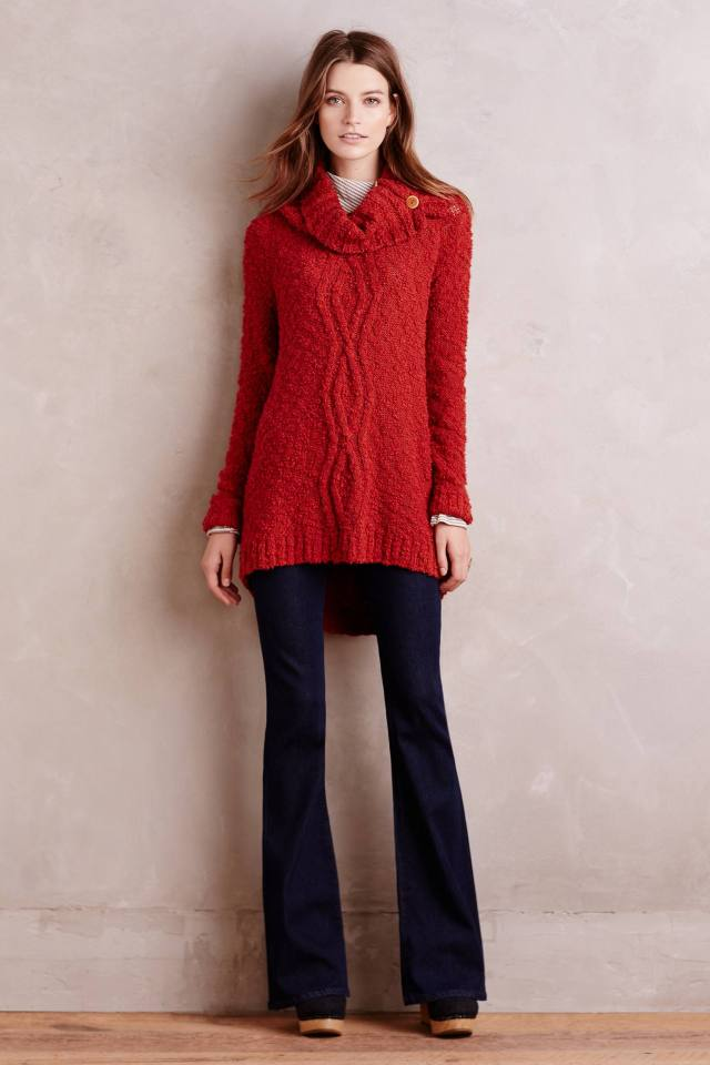Cowled Cablework Pullover by Moth