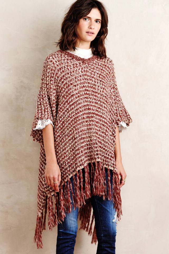 Amaris Fringed Poncho by Moth