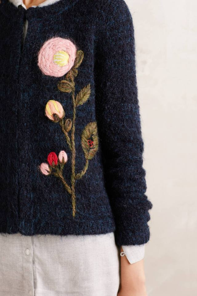 Vertical Garden Cardigan by Moth