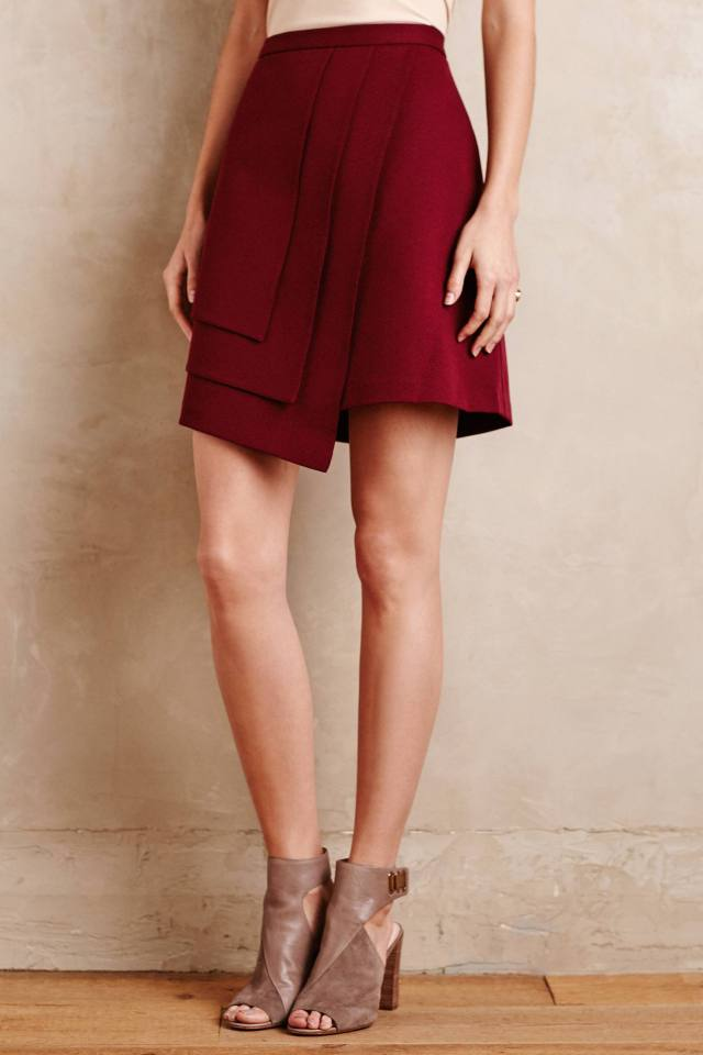 Layered Wrap Skirt by Raoul