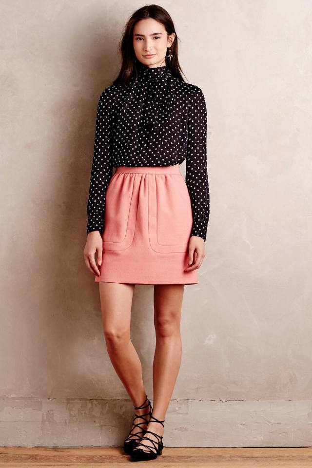 Blushed Wool Mini Skirt by Orla Kiely