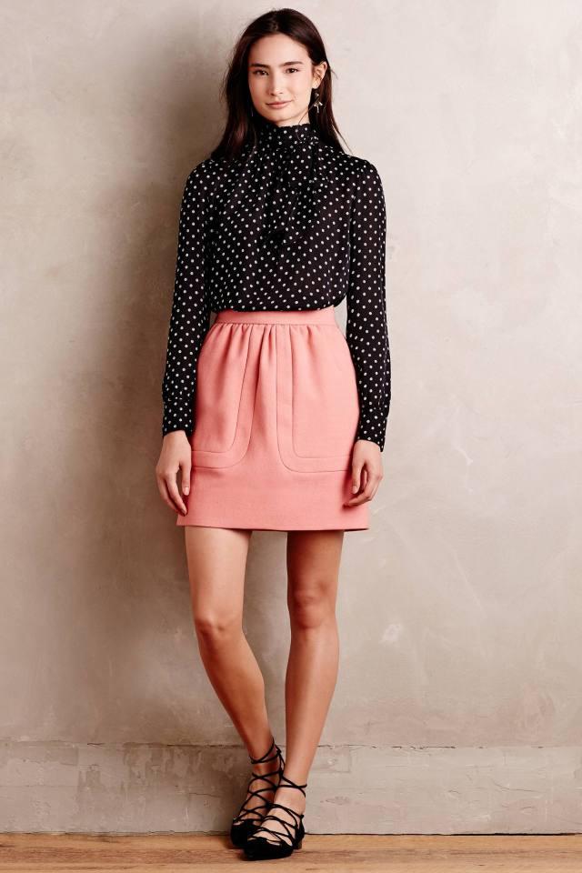 Blushed Wool Mini Skirt by Orla Kiely