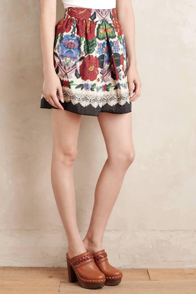 Folktale Mini Skirt by Anna Sui