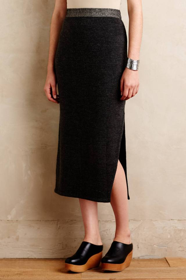 Sweaterknit Column Skirt by Moth