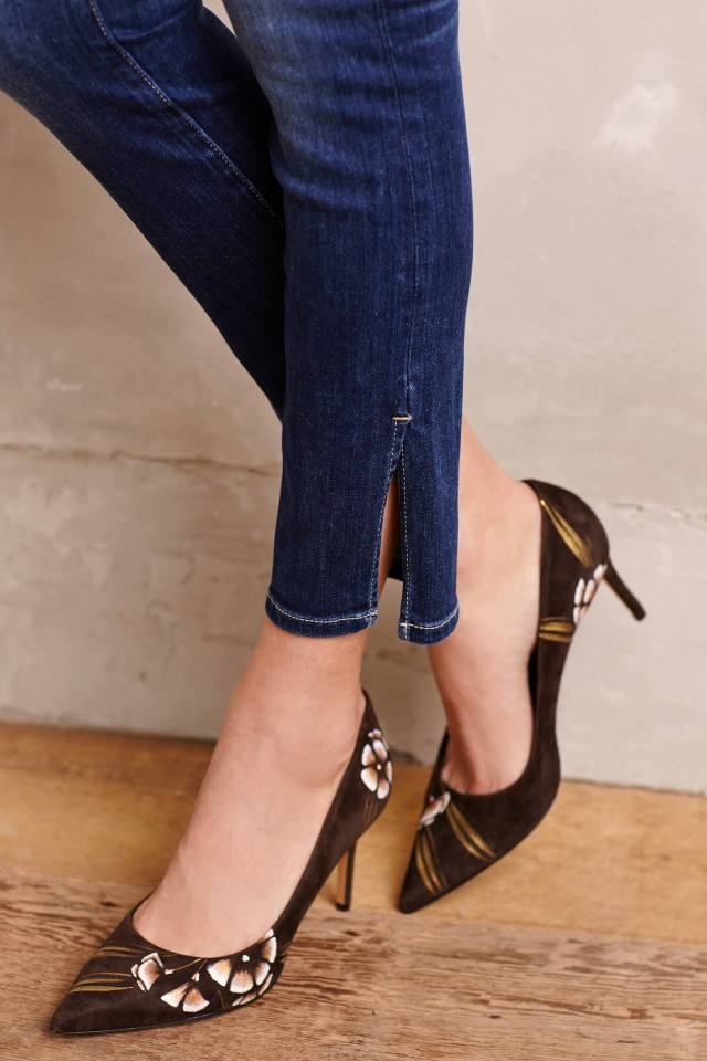Stet Side-Slit Ankle Jeans by Pilcro