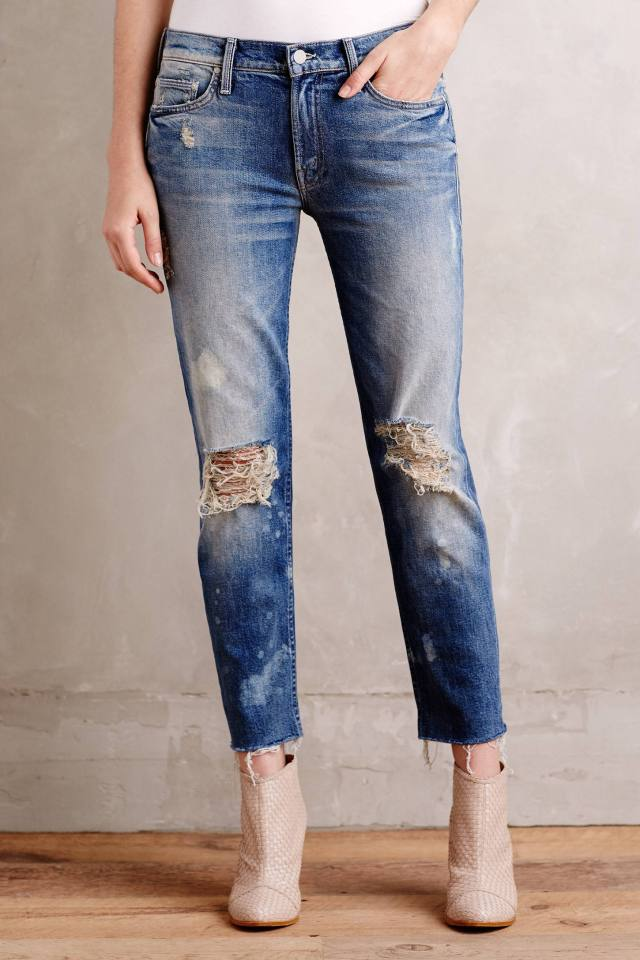 Dropout Fray Skinny Jeans by Mother