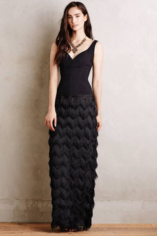 Fringed Sinope Gown by Hoss Intropia