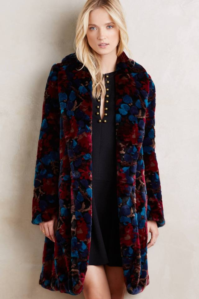 Marigny Faux-Fur Coat by Plenty by Tracy Reese
