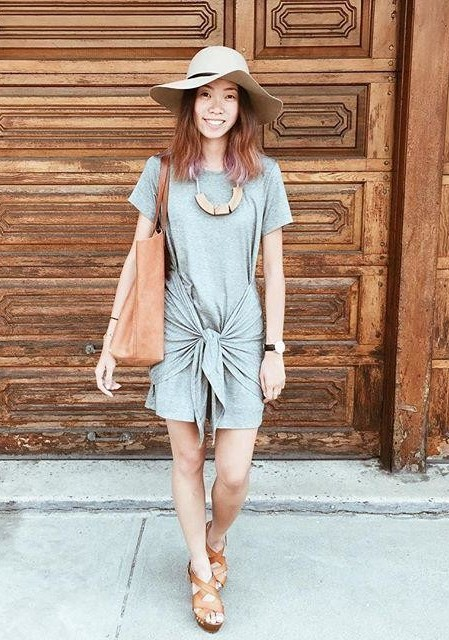 Tied T-Shirt Dress by Dolan Left Coast