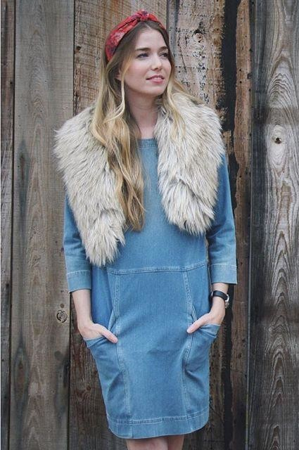 Denimknit Cocoon Dress by AG