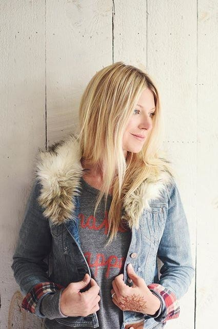 Faux-Fur Denim Jacket by Pilcro