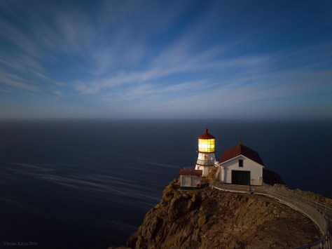 Point Reyes lighthouse at night, photographed with Google Nexus 6P (full resolution image here).