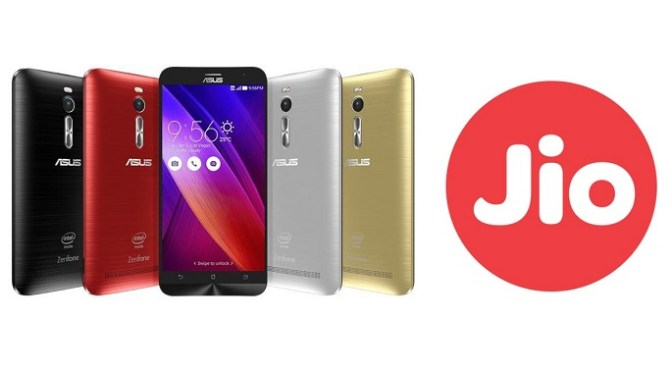 Asus Teamed Up with Reliance Jio offering 100 GB 4G Data