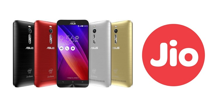 asus teamed reliance jio offering 100 gb 4g data