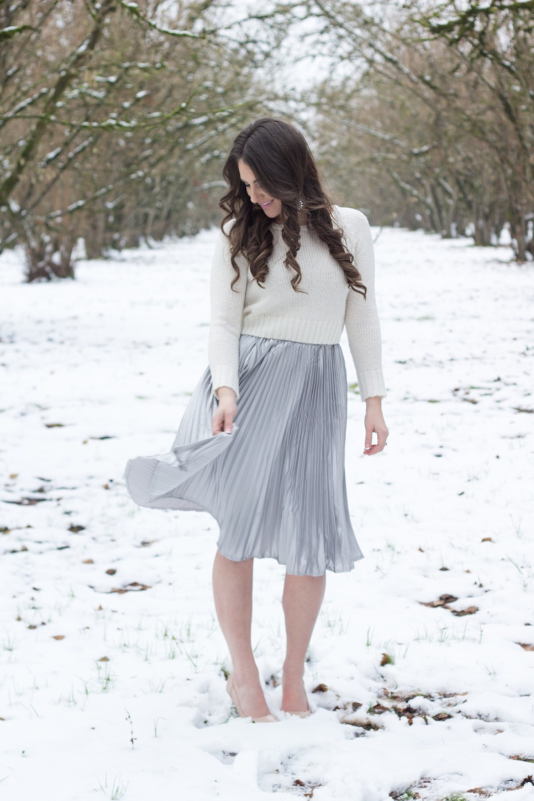skirt, snow, asos, one hope, champagne, new year, sweater