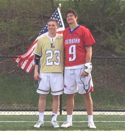 Fallen Heroes MVPs Colin Cahill (left, La Salle), Ricky Koehler (DeMatha) - Photos by Chris Jastrembski