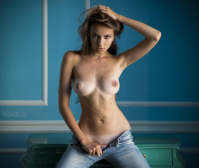 Topless Girls In Jeans Image