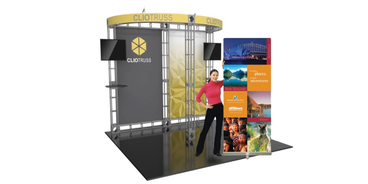 Top Level Banners displays trade show equipment