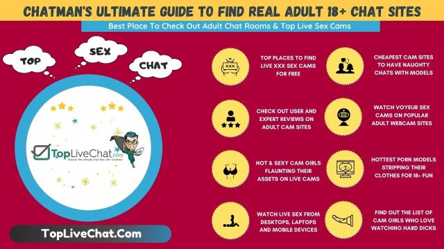 Adult chat sites infographic