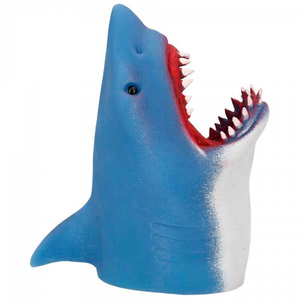 Dino World Marioneta Tiburón Goma – Turquesa