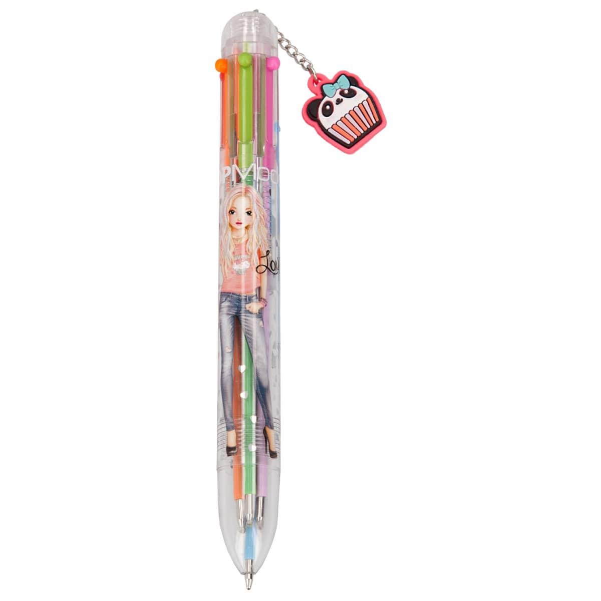 Bolígrafo, 6 colores TOPModel – Rosa