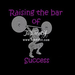 Raising The Bar Of Success Custom Rhinestone Transfers China