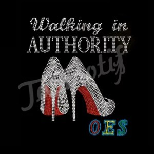Walking In Authority OES Rhinestone Iron On Crystal Transfers