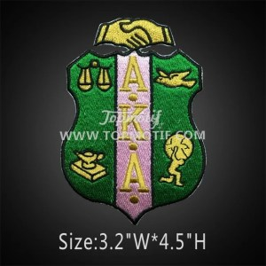 Alpha Kappa Alpha Shield Patch Iron On