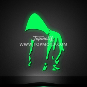 Fashion Hoodeis Glow in the Dark Design for Bling Clothes