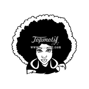 sublimation printing for Afro Girl iron on clothing