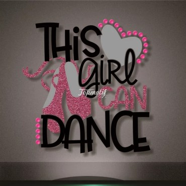 Printable and glitter material dance design heat transfers
