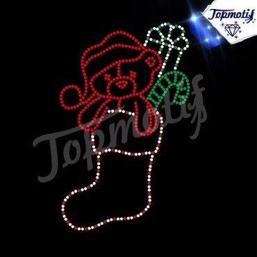 wholesale Rhinestone Hotfix Transfer Christmas Design