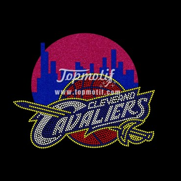 Cavaliers Heat Press Glitter Iron on Bling Transfer for your T shirt