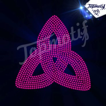 hot fix crystals transfer , pink rhinestone transfer for cloting accessories