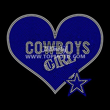cowboys girls rhinestone transfer football designs