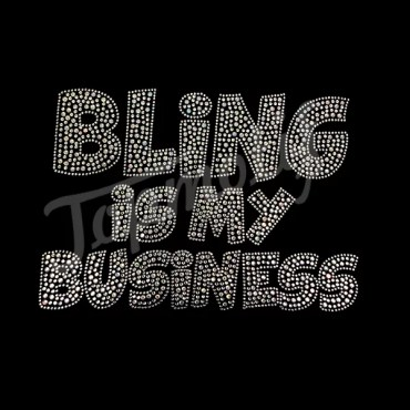 Hotfix Motif Designs Letter Bling Is My Business Iron On Iron On Rhinestone Appliques