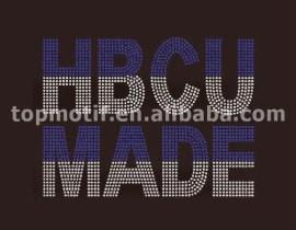 Custom HBCU MADE ZETA Rhinestone Transfer Iron on