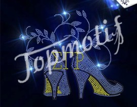 Beautiful ETP high heel rhinestone iron on transfers wholesale
