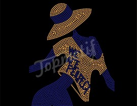 We Are Perfect Rhinestone Transfer Sigma Gamma Rho T-Shirt Transfers