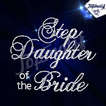 Crystal Motif Step Daughter Of The Bride Hot Fix Iron On Rhinestone Transfer Design