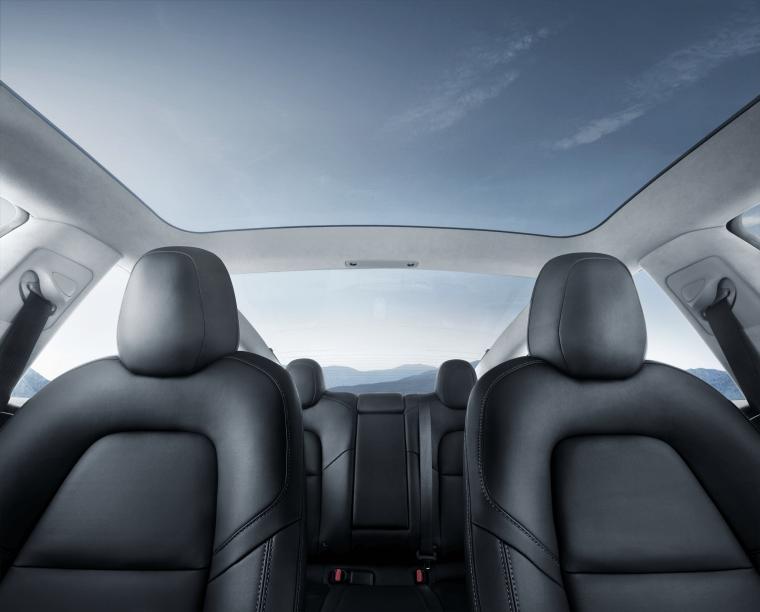 Model 3 - Interior Glass Roof Blue Sky