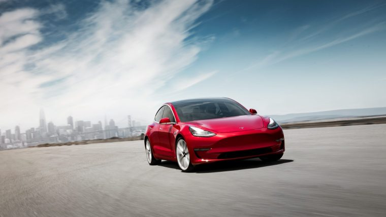 Model 3 Performance - Red Front Motion