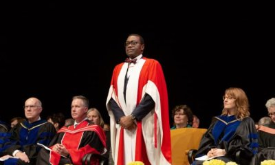 Akinwumi Adesina awarded honorary doctor in Canada